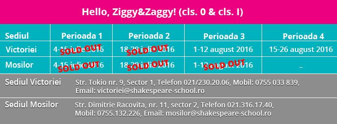 Perioade cursuri Hello Ziggy Zaggy