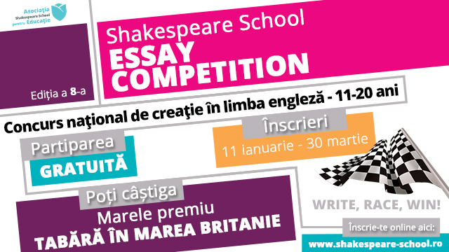 shakespeare school essay competition 2011 Nextrans 2011 high school essay competition first place $250 • second place $150 • third place $100 the nextrans center is one of ten regional university transportation centers selected.