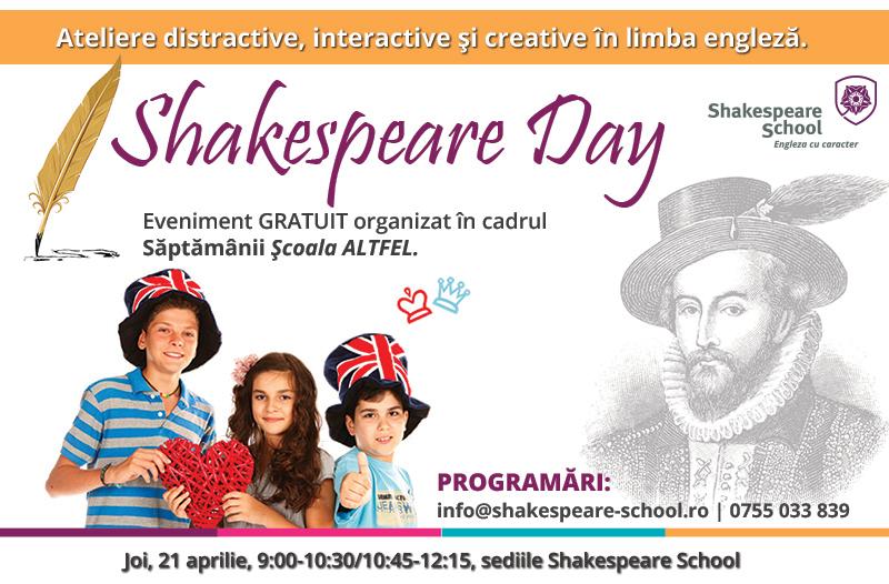 Scoala Altfel la Shakespeare School_Shakespeare Day