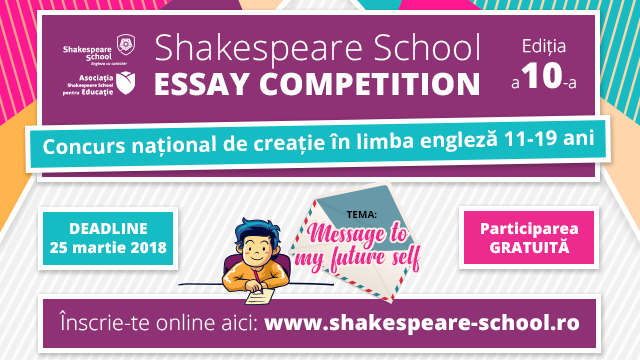 shakespeare essay competition We've scoured the internet for a wide range of free shakespeare essays these resources will help you understand shakespeare's plays better, and in some cases may have a very similar theme to the essayyou're trying to research or write.